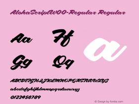 AlohaScript-Regular