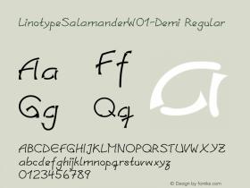 LinotypeSalamander-Demi