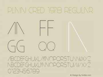 Plain Cred 1978