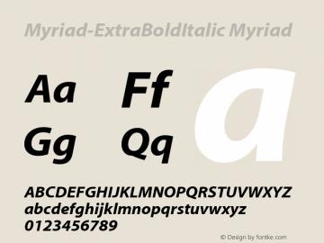Myriad-ExtraBoldItalic