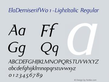 ElaDemiserif-LightItalic