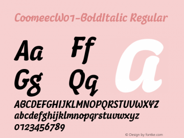 Coomeec-BoldItalic