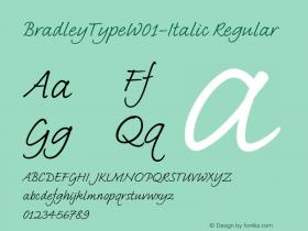 BradleyType-Italic