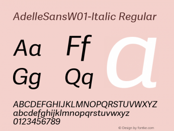 AdelleSans-Italic
