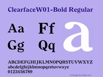 Clearface-Bold