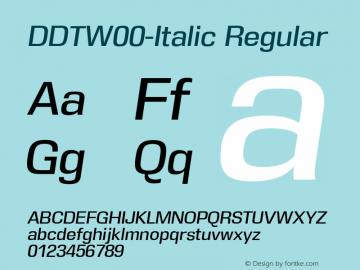 DDT-Italic
