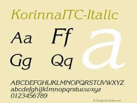 KorinnaITC-Italic