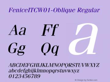 FeniceITC-Oblique