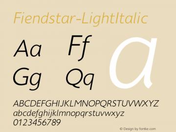 Fiendstar-LightItalic