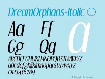 DreamOrphans-Italic