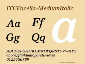 ITCPacella-MediumItalic