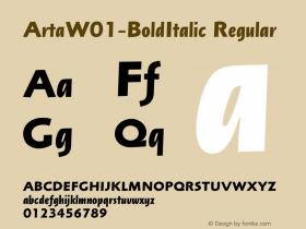 Arta-BoldItalic