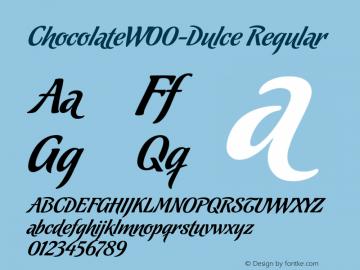 Chocolate-Dulce