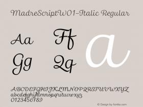MadreScript-Italic
