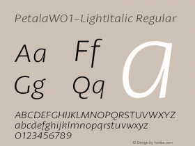 Petala-LightItalic