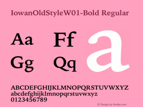 IowanOldStyle-Bold
