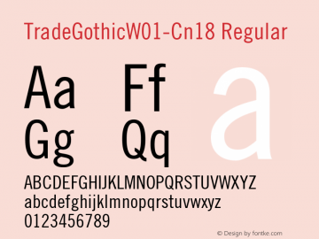 TradeGothic-Cn18