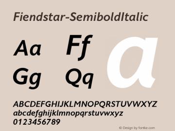 Fiendstar-SemiboldItalic