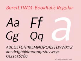 BeretLT-BookItalic