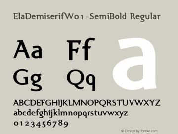 ElaDemiserif-SemiBold