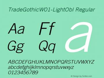 TradeGothic-LightObl