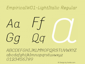Empirical-LightItalic