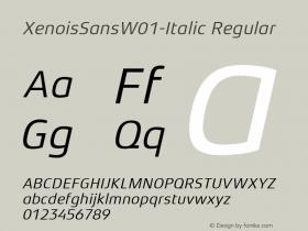 XenoisSans-Italic