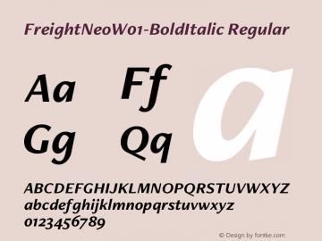 FreightNeo-BoldItalic
