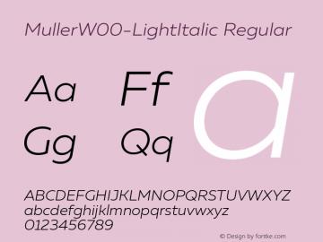 Muller-LightItalic