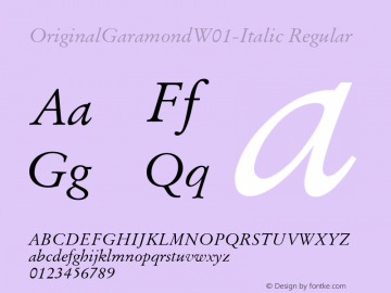 OriginalGaramond-Italic