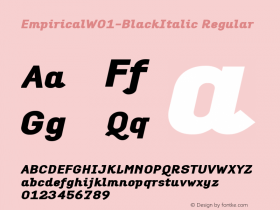 Empirical-BlackItalic