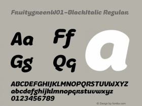 Fruitygreen-BlackItalic