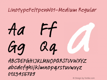 LinotypeFeltpen-Medium