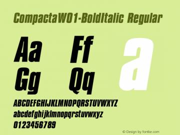 Compacta-BoldItalic