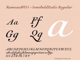 Rameau-SemiboldItalic