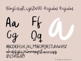 BlogScriptLight-Regular