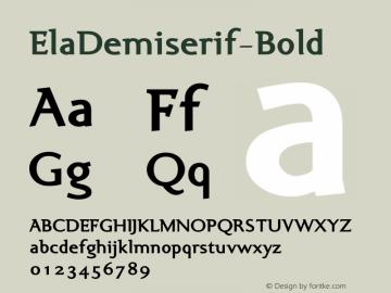 ElaDemiserif-Bold