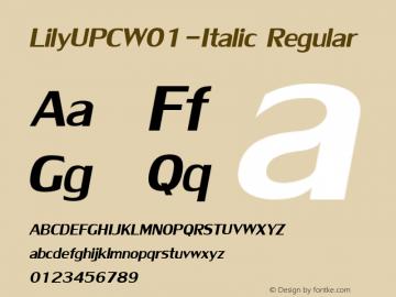 LilyUPC-Italic