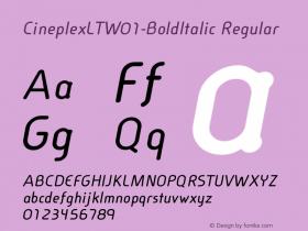 CineplexLT-BoldItalic
