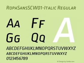 RopaSansSC-Italic