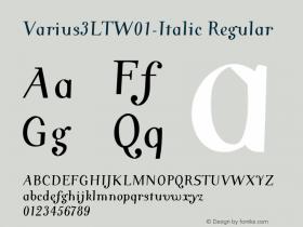 Varius3LT-Italic