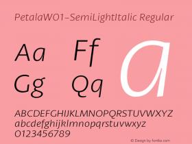 Petala-SemiLightItalic