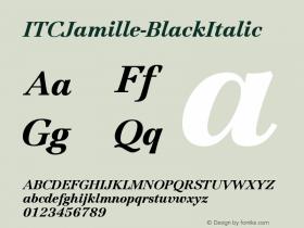 ITCJamille-BlackItalic
