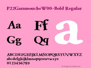 P22Garamouche-Bold