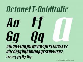 OctaneLT-BoldItalic