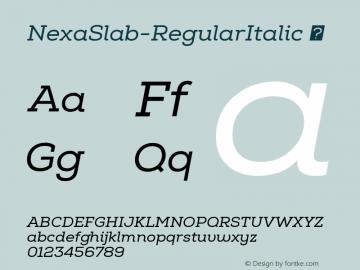 NexaSlab-RegularItalic
