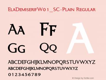 ElaDemiserif_SC-Plain