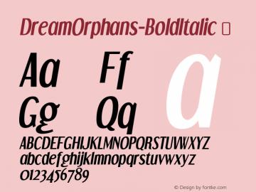 DreamOrphans-BoldItalic