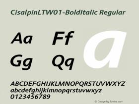 CisalpinLT-BoldItalic