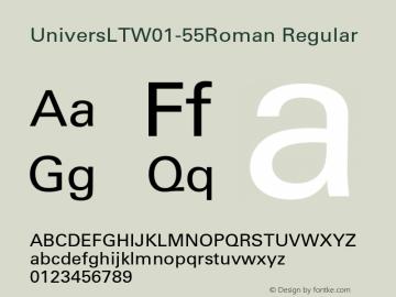 UniversLT-55Roman